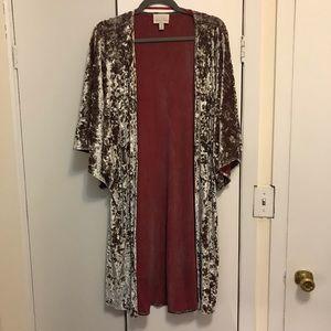 Metallic Velvet Kimono